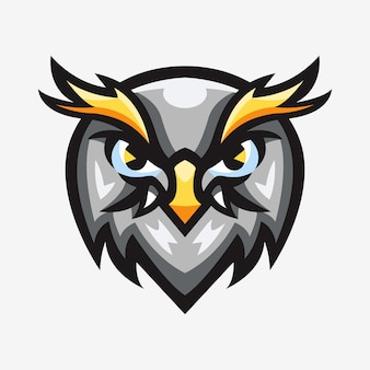 Illustration de logo de sport mascotte de pygargue à tête blanche