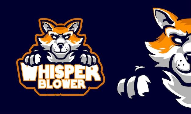 Illustration de logo de sport mascotte renard en colère