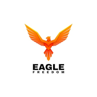 Illustration de logo style coloré de dégradé d'aigle.