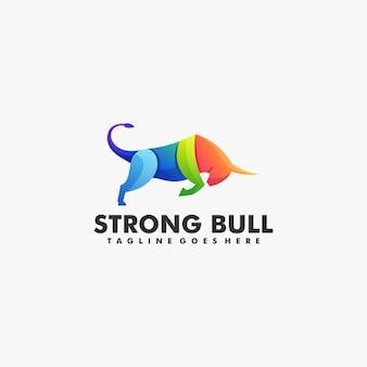 Illustration logo style coloré dégradé bleu fort.