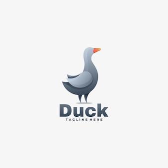 Illustration de logo style coloré dégradé de canard