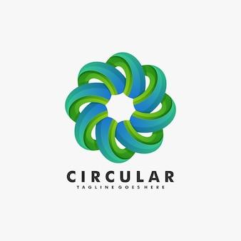 Illustration logo style coloré dégradé circulaire.