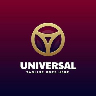 Illustration logo style coloré dégradé universel