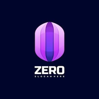 Illustration de logo style coloré de zéro dégradé.