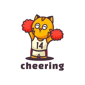 Illustration de logo style de dessin animé de mascotte de joie.