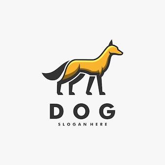 Illustration de logo style de dessin animé de mascotte de renard.