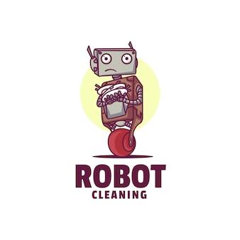 Illustration de logo style de dessin animé de mascotte de robot.
