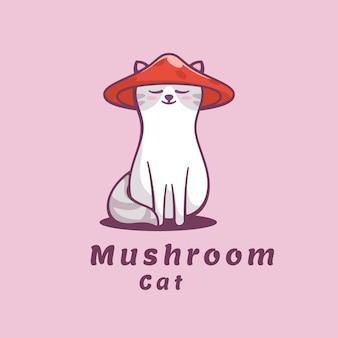 Illustration de logo style de mascotte simple champignon.