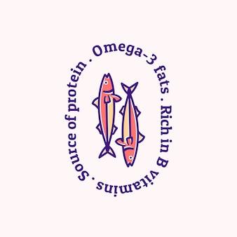 Illustration de logo style de mascotte simple de saumon.