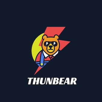 Illustration de logo style de mascotte simple thunder.