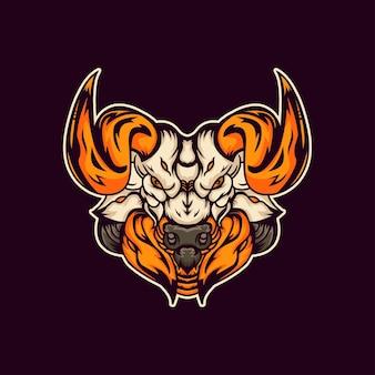 Illustration logo taureau
