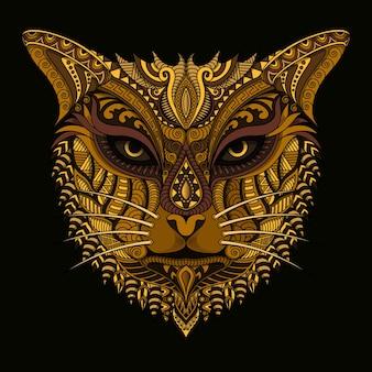 Illustration de logo tigre créatif dessiné à la main