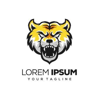Illustration de logo de tigre