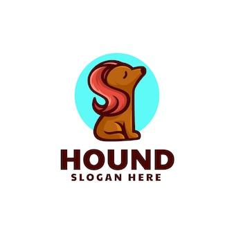 Illustration logo vectoriel chien dans style mascotte simple