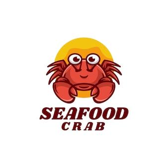 Illustration Logo Vectoriel Crabe Fruits Mer Dans Style Mascotte Simple Vecteur Premium