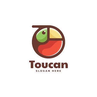 Illustration logo vectoriel dans style mascotte simple toucan