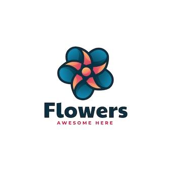 Illustration logo vectoriel fleur dans style mascotte simple