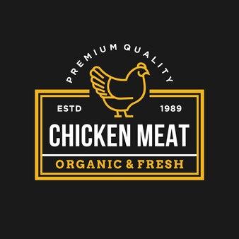 Illustration de logo vectoriel poulet