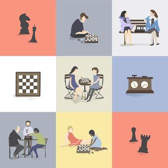 Illustration de loisirs et d'activités humaines