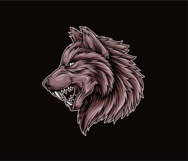 Illustration de loup en colère