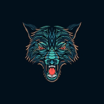 Illustration de loup