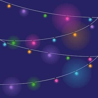 Illustration lumière colorée sur fond sombre.