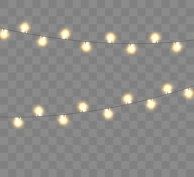 Illustration de lumières de noël lumineux belle guirlande du nouvel an