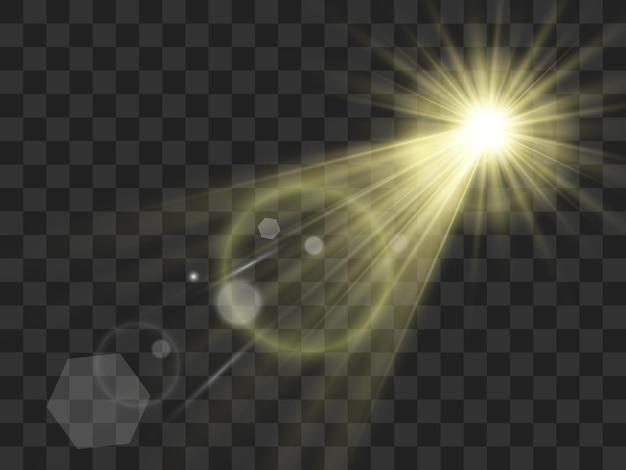 Illustration lumineuse belle étoile d'un effet de lumière