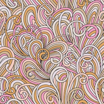 Illustration lumineuse colorée transparente motif abstrait avec des vagues