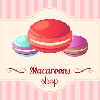 Illustration de macarons.