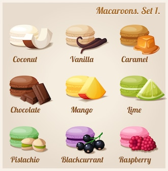 Illustration de macarons