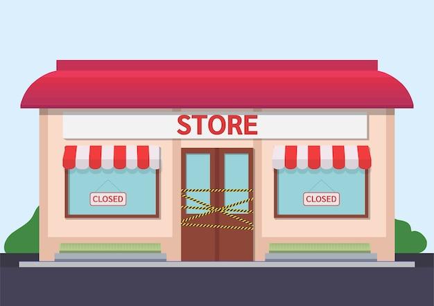 Illustration de magasin fermé