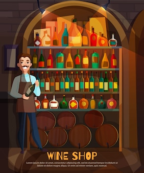 Illustration de magasin de vin