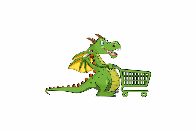 Illustration de magasinage de dragon