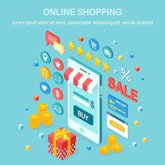 Illustration de magasinage en ligne
