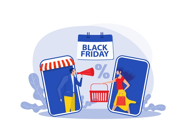 Illustration de magasinage vendredi noir
