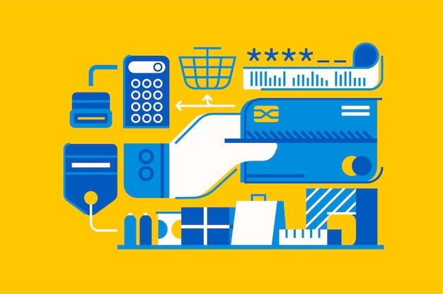 Illustration de magasinage