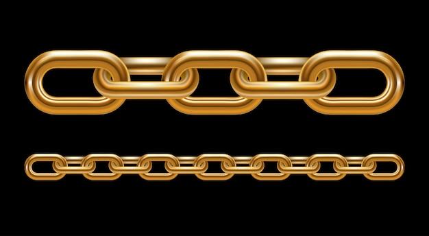 Illustration de maillons de chaîne en métal