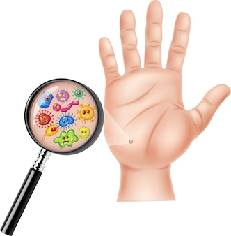 Illustration de la main sale