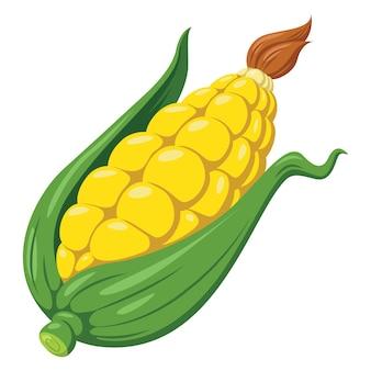 Illustration de maïs de dessin animé mignon
