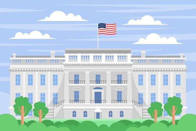 Illustration de la maison blanche