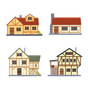 Illustration de la maison médiévale vintage