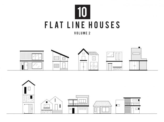 Illustration de la maison minimale moderne
