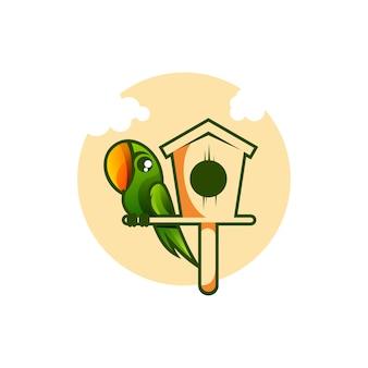 Illustration de maison d'oiseau