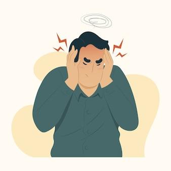 Illustration de la maladie concept migraine