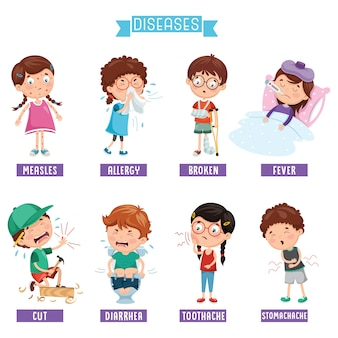 Illustration des maladies infantiles