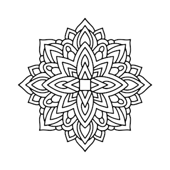 Illustration de mandala, contour coloriage