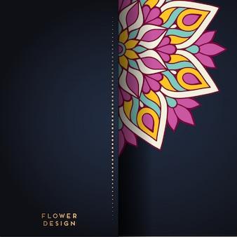 Illustration de mandala dans la conception de fleurs