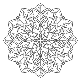Illustration de mandala décoratif floral