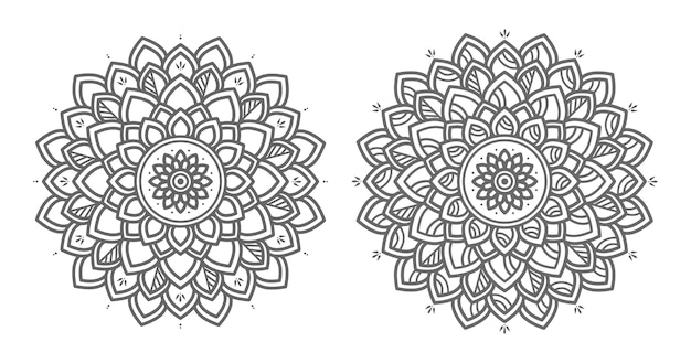 Illustration de mandala floral décoratif